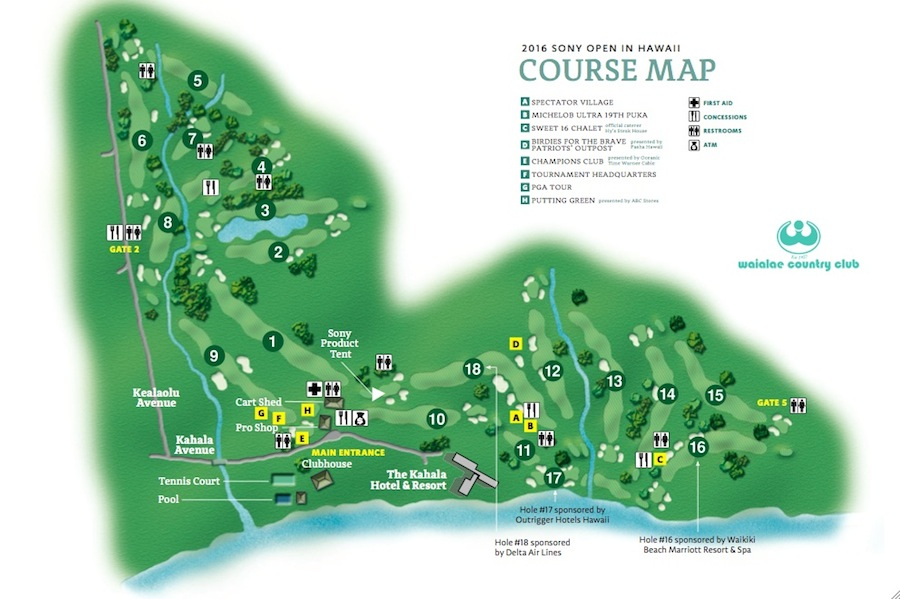 Course Map 2017 Sony Open In Hawaii