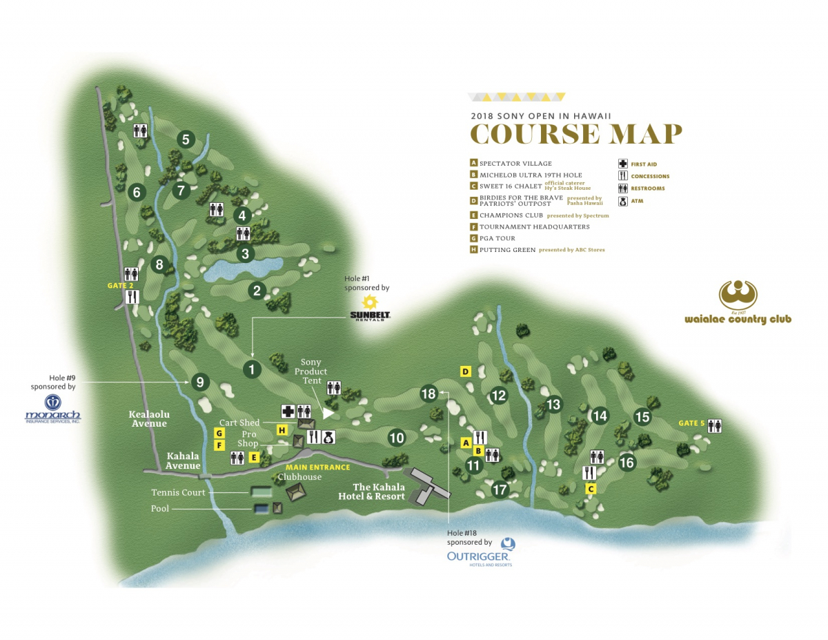 Course Map | 2019 Sony Open in Hawaii on ocean front house designs, view house designs, wheelchair accessible house designs, spanish style house designs, ranch house designs, beach house designs, resort house designs, football field house designs, corner lot house designs, waterfront house designs, lakefront house designs, vaulted ceiling house designs, boat dock house designs, rugby club house designs, pool house designs, country club house designs, drive under house designs, single story house designs, single level house designs, courtyard house designs,